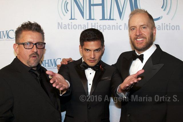 Lalo Alcaraz, Nicholas Gonzalez (center)