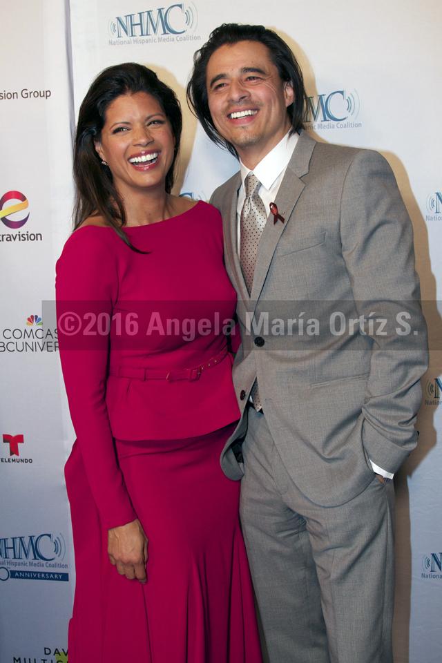Actors Andrea Navedo and Antonio Jaramillo