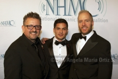 L-r: Lalo Alcaraz, Nicholas Gonzalez and Mark Hentemann