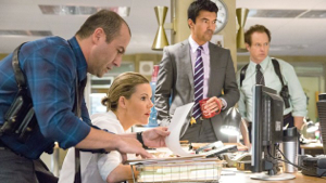 L-r: Lombardo Boyar, Kathleen Robertson, Ian Anthony Dale and Raphael Sbarge Murder in the First