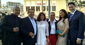 L-r: Juan Escobedo, Alejandro Patino, Lupe Gonzalez, Angela Ortíz, Romi R Dias, and Umberto Gonzalez