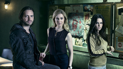 L-r: Aaron Stanford, Amanda Schull and Emily Hampshire