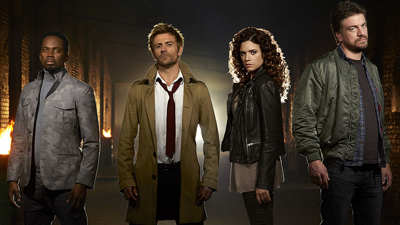 L-r: Harold Perrineau as Manny, Matt Ryan as John Constantine, Angelica Celaya as Zed, and Charles Halford as Chaz