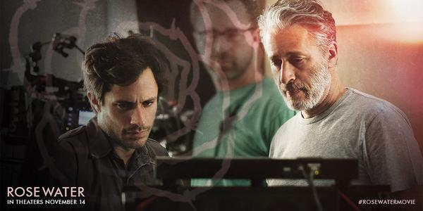 L-r: Gael Garcia Bernal and Jon Stewart