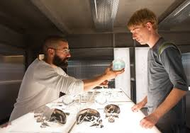 Oscar Isaac and Domhnall Gleeson in Ex Machina