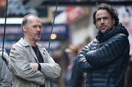 Michael Keaton and Alejandro González Iñárritu