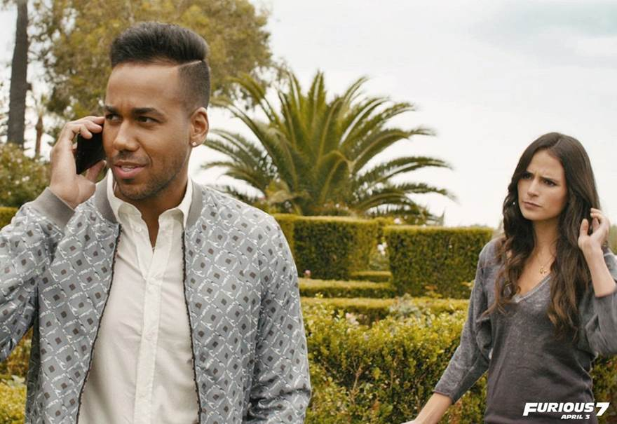 L-r: Romeo Santos and Jordana Brewster