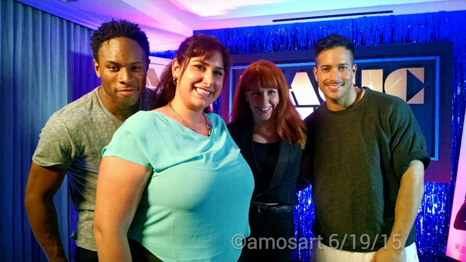 Anahis with Magic Mike XXL choreographer and dancers ©2015 Angela María Ortíz S.