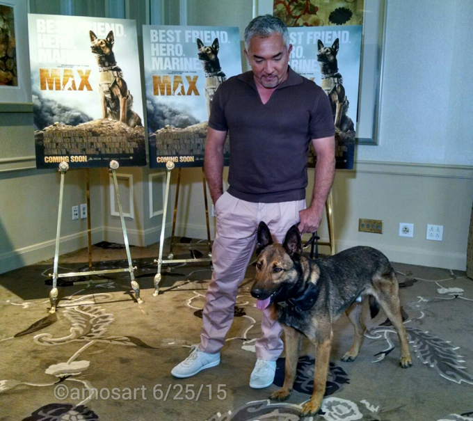 Cesar Millan and Carlos the dog aka Max