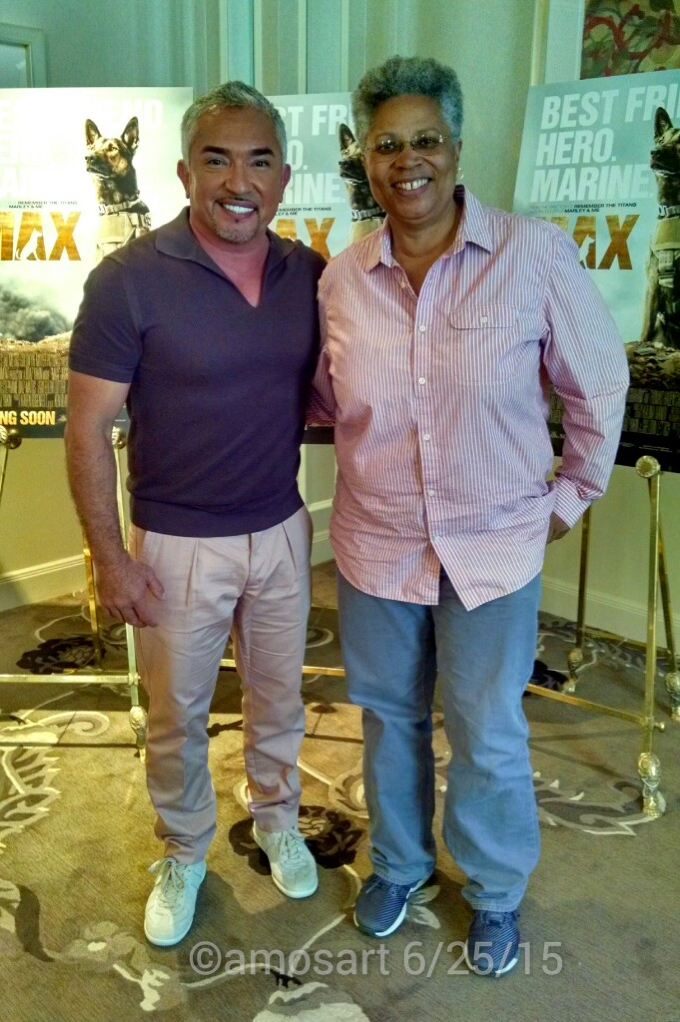 Cesar Millan and Angela Ortiz