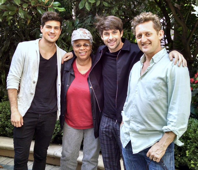 L-r: Anthony Padilla, Angela Ortíz, Ian Hecox and Alex Winter