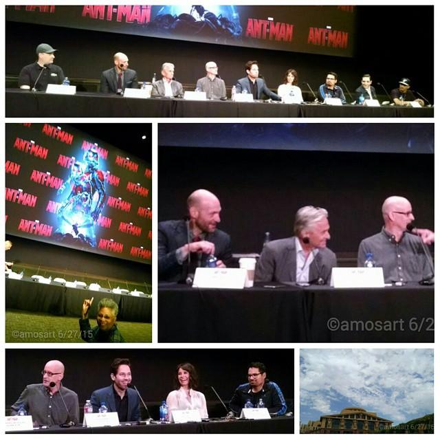 Top: Kevin Feige, Corey Stoll, Michael Douglas, Paul Rudd, Evangeline Lilly, Michael Peña, David Dastmalchian and T.I.