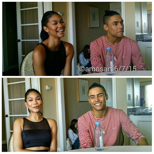 Chanel Iman and Quincy Brown