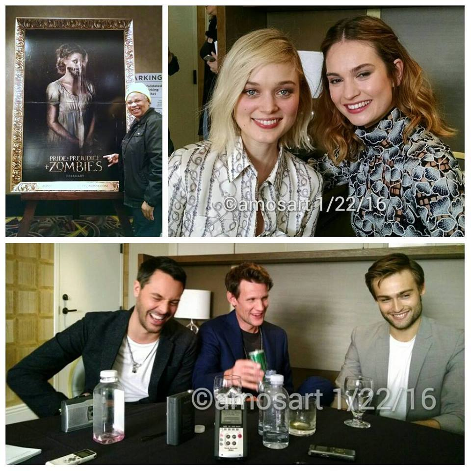 T-b: Se Fija!'s Angela Ortíz, Lily James, Bella Heathcote Jack Huston, Matt Smith and Douglas Booth
