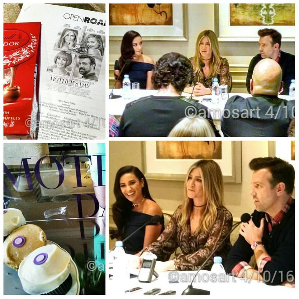 Lr: Shay Mitchell, Jennifer Aniston and Jason Sudeikis ©2016 Angela María Ortíz S.