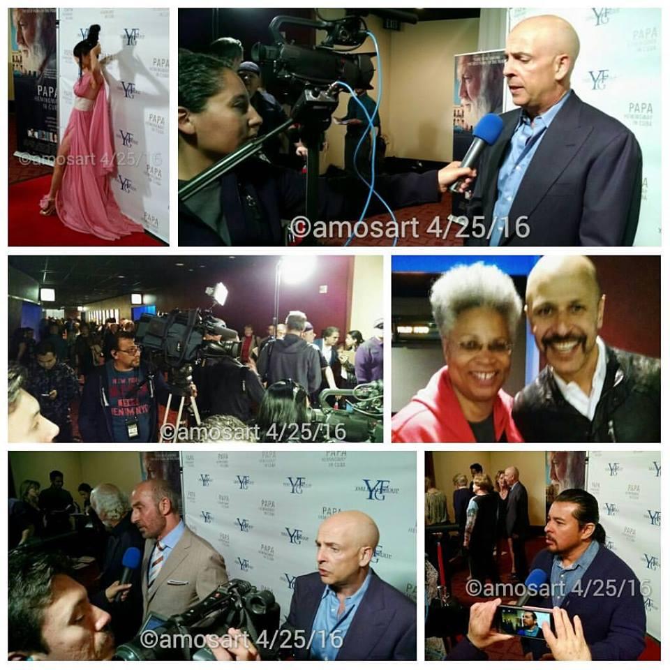 Papa Hemingway in Cuba Red Carpet t-b: Bai Ling, director Bob Yari, Angela Ortiz, Maz Jobrani, Adrian Sparks, Shaun Toub, and Jacob Vargas.