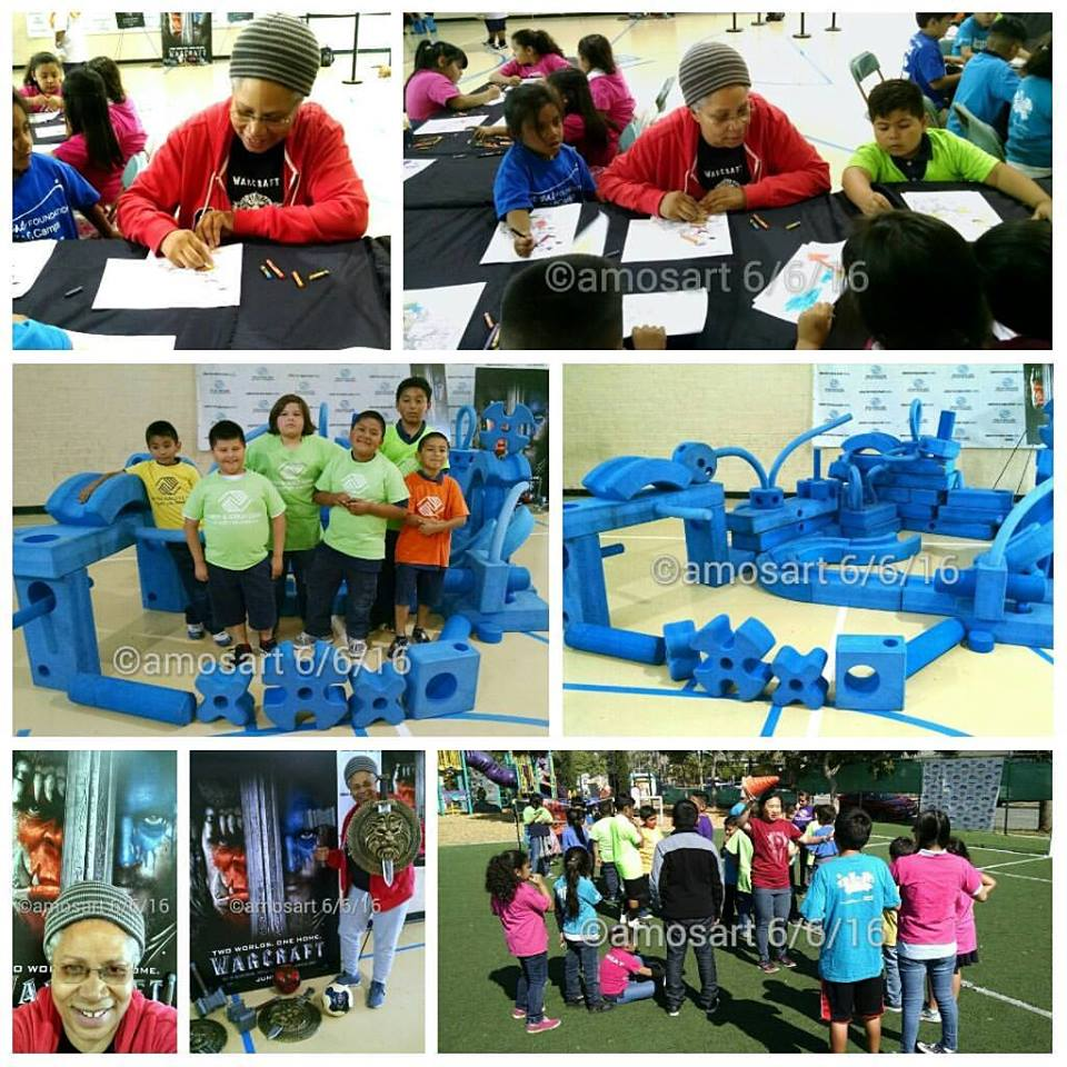 Spent a great time coloring with these kids at the Boys and Girls Club of East Los Angeles.
