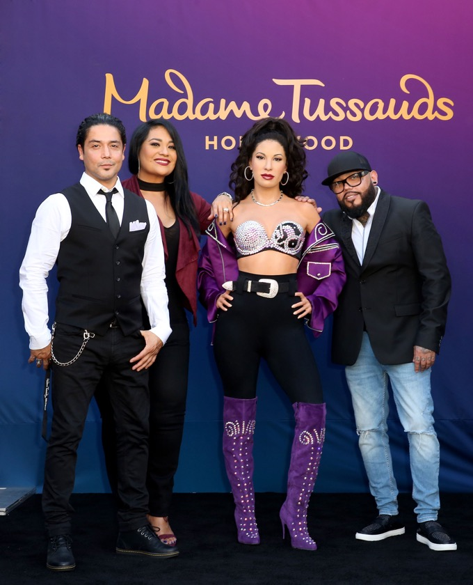 Selena, Chris Perez, Suzette Quintanilla, A.B. Quintanilla, Rachel Murray/Getty Images