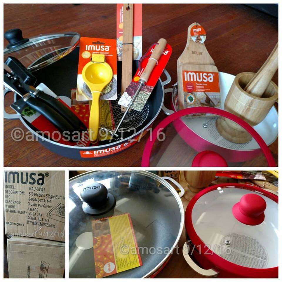 IMUSA pots and utensils we received, and had fun using. ©2016 Angela María Ortíz S.