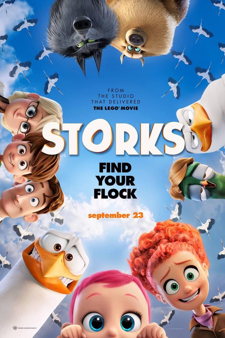 Storks, BradLewis, Doug Sweetland, Kate Crown, Andy Samberg, Kelsey Grammer, Stephen Kramer Glickman, Nicholas Stoller