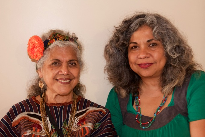 Artist Ofelia Esparza and her daughter/collaborator Rosanna Esparza Ahrens.