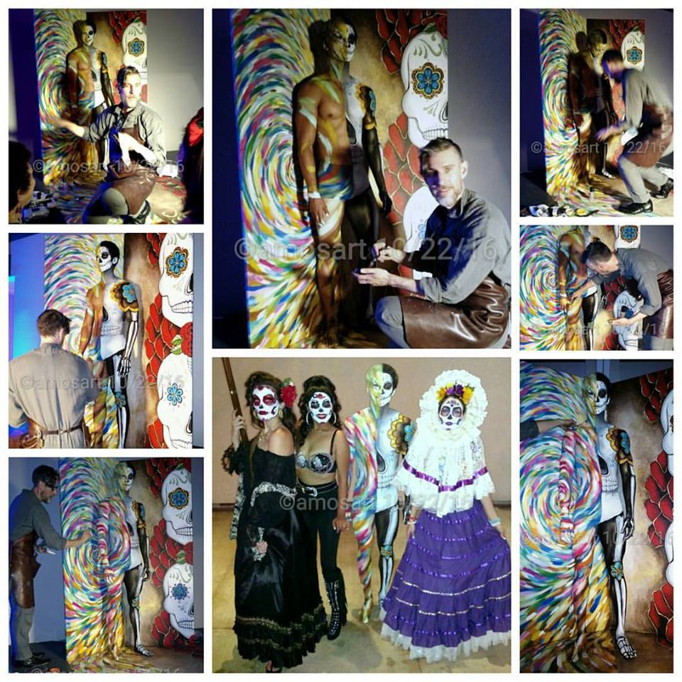 Check out body-painter David Gilmore at work in these images.