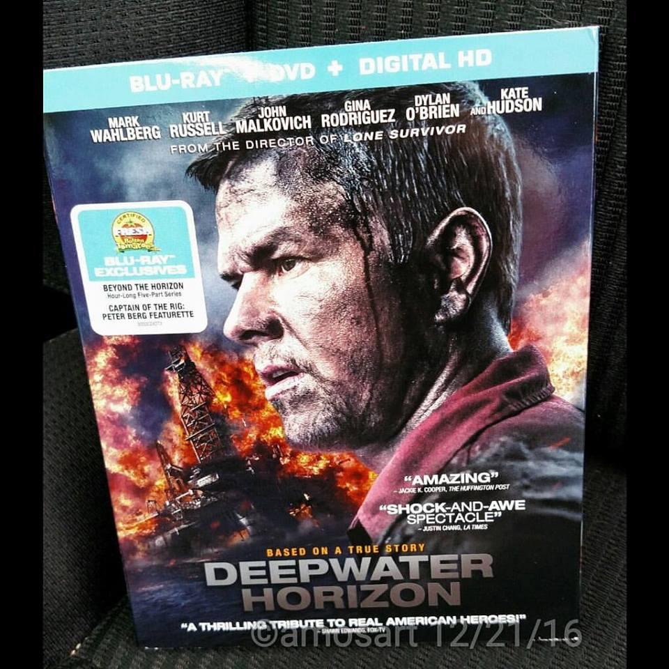 Deepwater Horizon, Blu-ray, Giveaway, Peter Berg and starring Mark Wahlberg, Gina Rodriguez, Kurt Russell, Kate Hudson