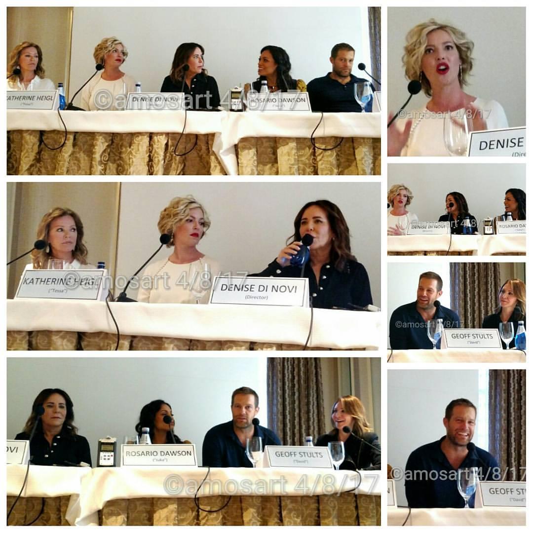 Cheryl Ladd, Katherine Heigl, Denise Di Novi, Rosario Dawson, Geoff Stults and Alison Greenspan