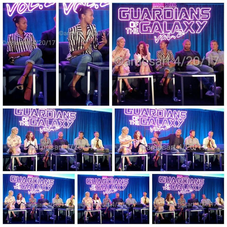 Kevin Feige, Pom Klementieff, Karen Gillan, Zoë Saldaña, Dave Bautista, Sylvester Stallone, Sean Gunn