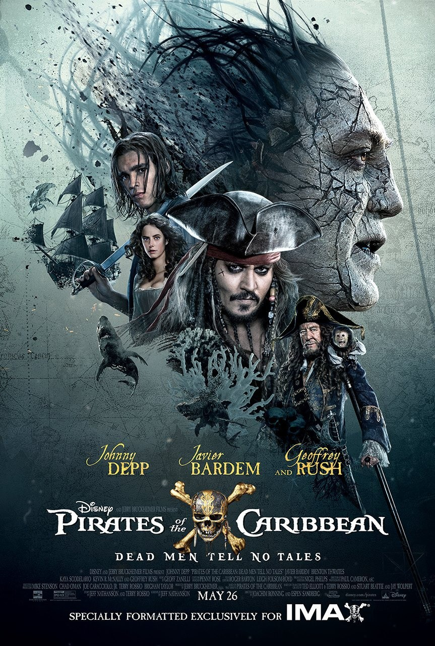 Pirates of the Caribbean: Dead Men Tell No Tales, Jesus Figueroa, Jerry Bruckheimer, Pirates of the Caribbean, Dead Men Tell No Tales, Joachim Rønning, Espen Sandberg, Johnny Depp, Javier Bardem, Benton Thwaites, Kara Scodelario, Geoffrey Rush, Keira Knightly
