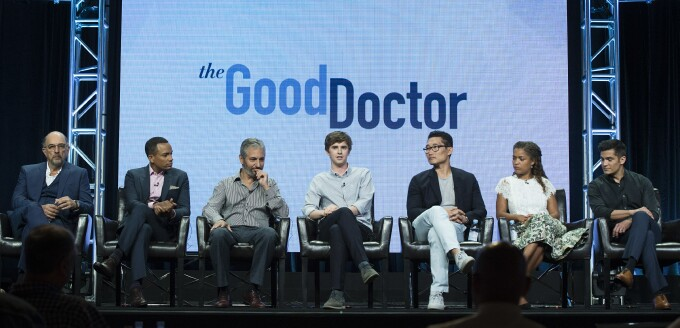 Richard Schiff, Hill Harper, David Shore, Freddie Highmore, Antonia Thomas, Nicholas Gonzalez