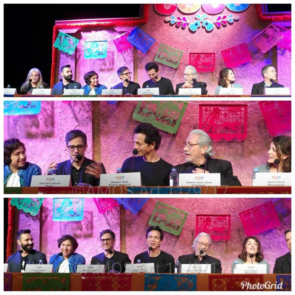 Coco press conference with Anthony Gonzalez, Gael Garcia Bernal, Benjamin Bratt, Edward James Olmos, Alanna Ubach, writer/co-director Adrian Molina