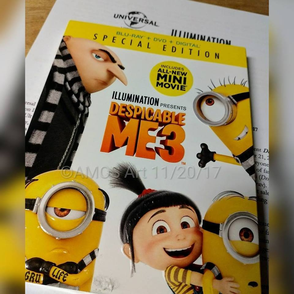 Despicable Me 3, Giveaway, SeFijaOnline, Free movie, Blu-ray, DVD, 4k Ultra HD