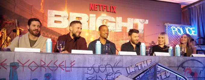 Bright, Édgar Ramírez, director David Ayer, Will Smith, Joel Edgerton, Noomi Rapace, Lucy Fry