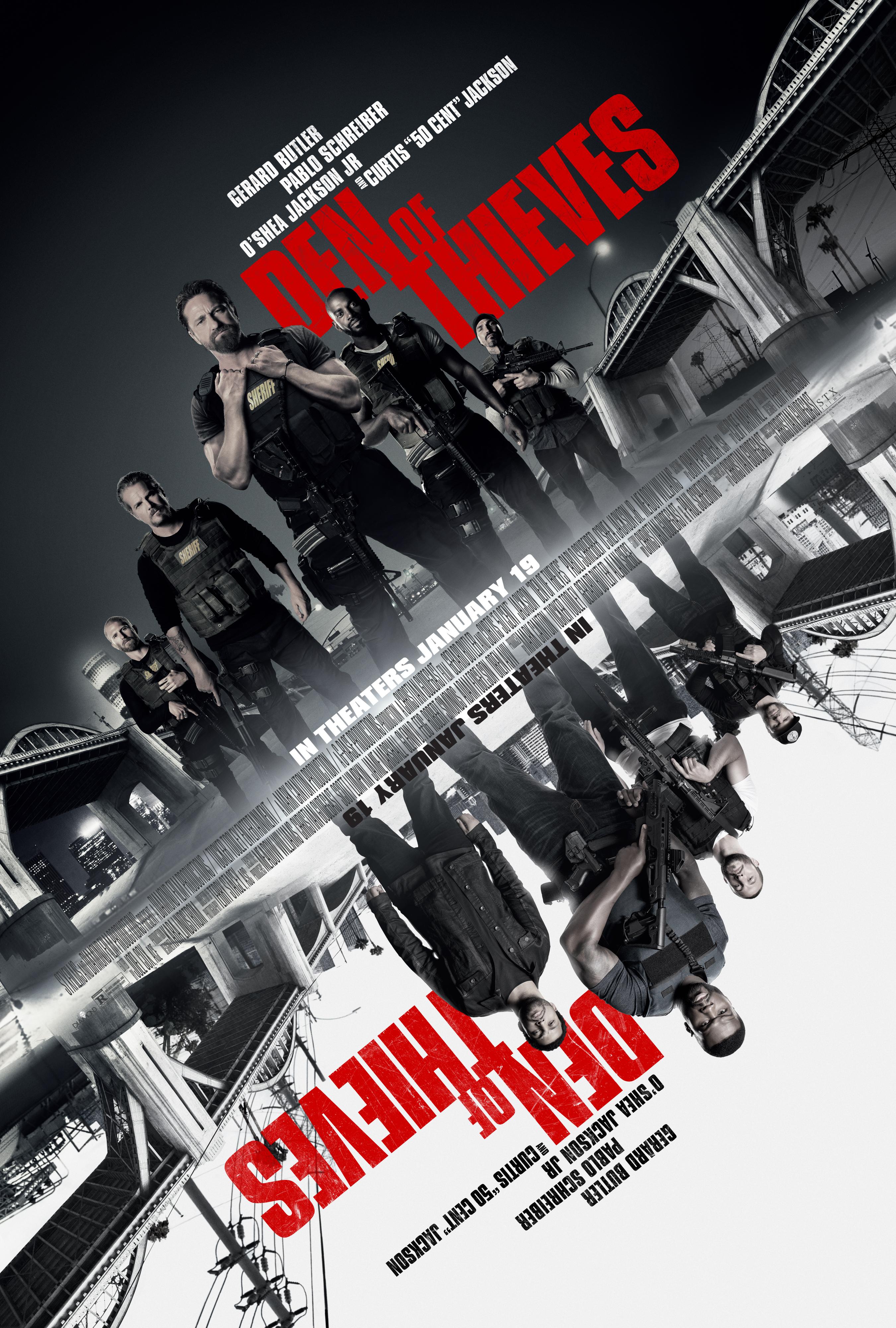 "Den of Thieves, Gerard Butler, Pablo Schreiber, O'Shea Jackson Jr., Brian van Holt, Curtis ""50 Cent"" Jackson"