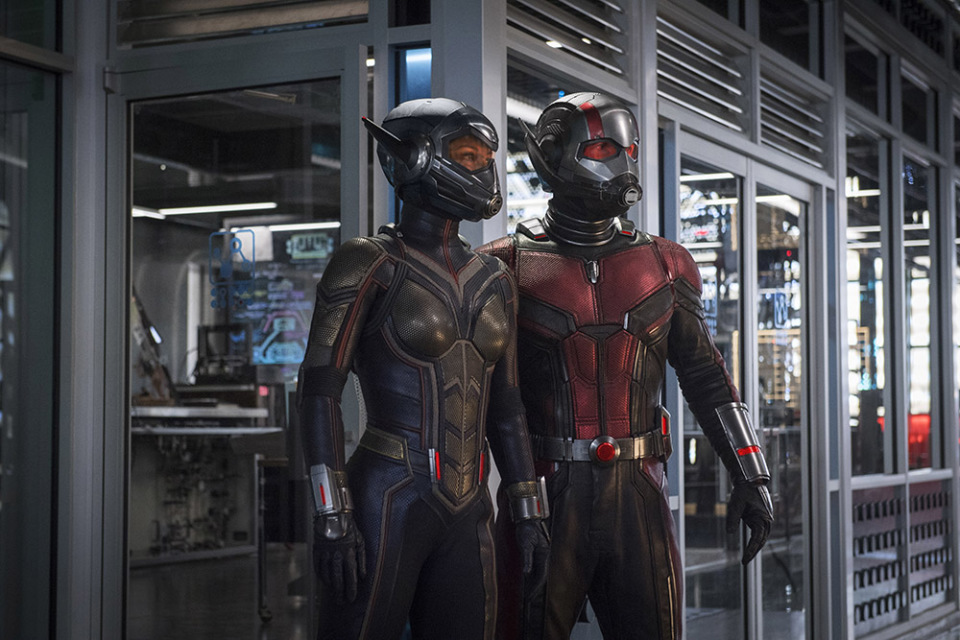 "Ant-Man and the Wasp, Peyton Reed, Paul Rudd, Evangeline Lilly, Michael Peña, Walton Goggins, Bobby Cannavale, Judy Greer, Tip ""T.I."" Harris, David Dastmalchian, Hannah John Kamen, Abby Ryder-Fortson, Randall Park, Michelle Pfeiffer, Laurence Fishburne, Michael Douglas"